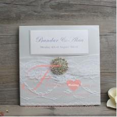 Monogrammed Silver Wedding Invitations Cheap
