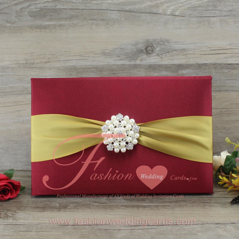 Silk Folios | Thailand Wedding Invitation Card |Burgundy Wedding ...