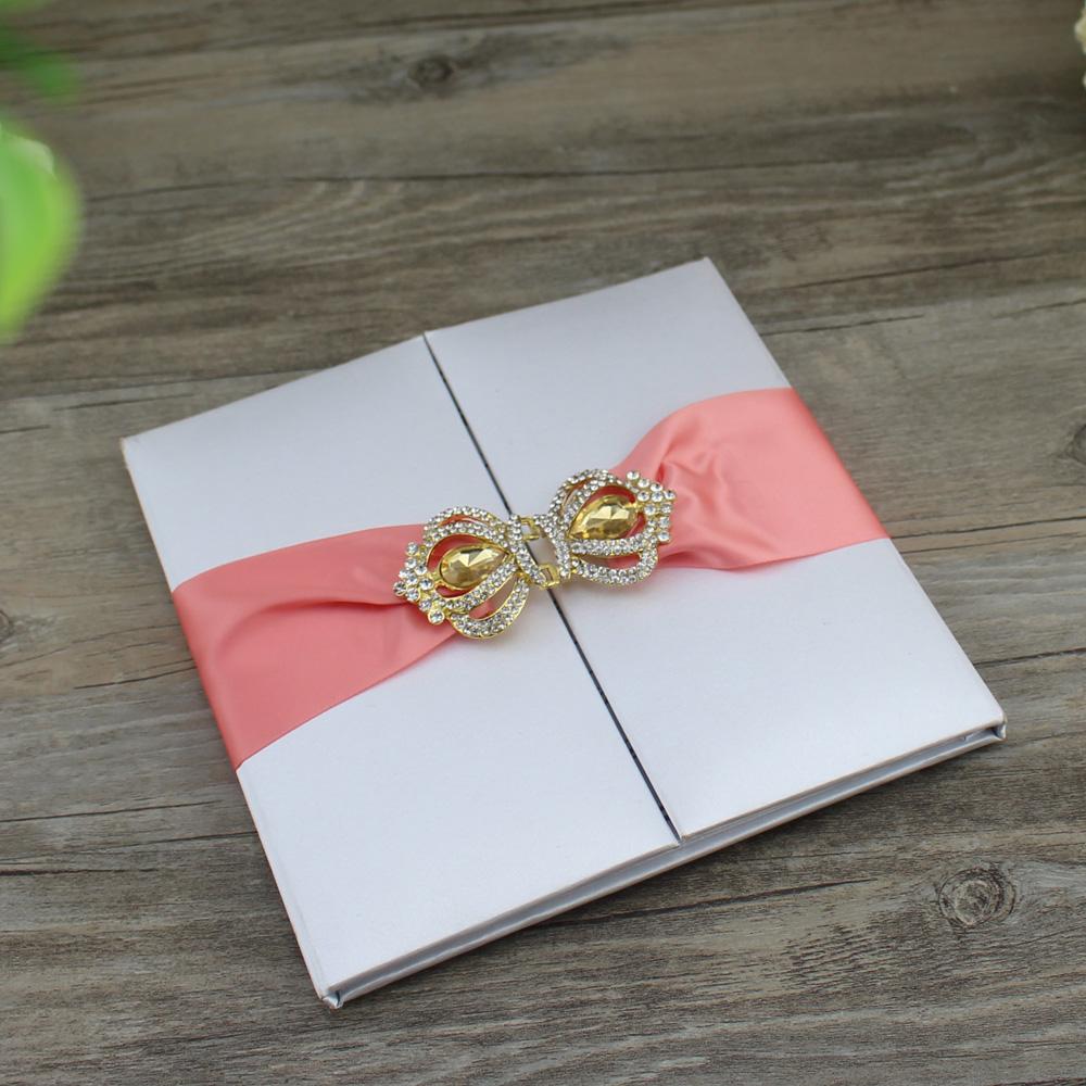 High End Custom Silk Wedding Invitation Folio