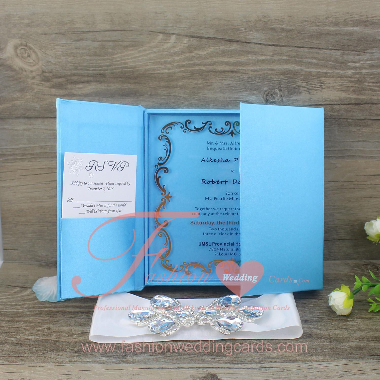 Clear Acrylic Wedding Invitations With Silk Box