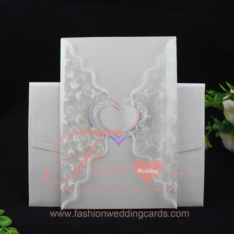 Clear Plastic Wedding Invitation Cards